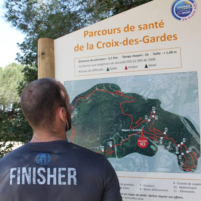 Sports routes in Cannes