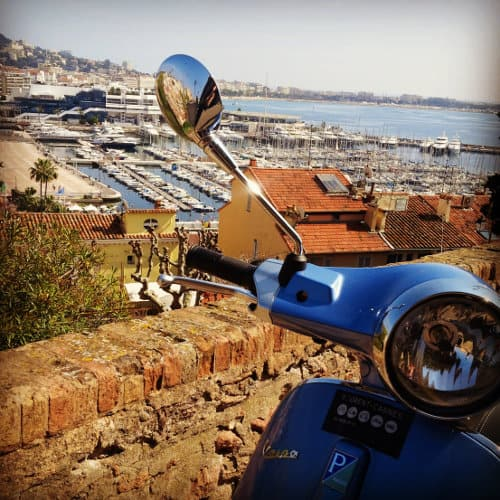Guided tour of Cannes on a Vespa